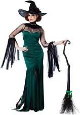 Sexy Sorceress Halloween Haunt Rhinestone Trim Dress Witch Costume Adult Women