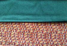 Patchworkstoff (€20/m²) 0,3m Muster buntes Herbstlaub grüne Quadrate 1,10m breit