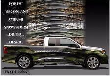 Chromium camouflage go kart race car vinyl graphic decal half wrap