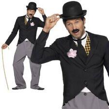 Uomo Charlie Chaplin Costume 1920s Silenziose Star Del Cinema Vestito Nuovo
