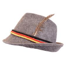 Choose Color German Alpine Bavarian Oktoberfest Costume Hat with Feather