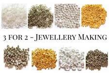 3 FOR 2 - Spacer Beads Jump Rings & Backs For Jewellery Making - UK Seller