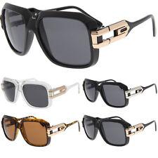 Large Classic Retro Sunglasses Square Frame RUN DMC Hip-Hop Grandmaster Glasses