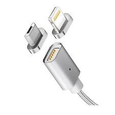 Cable USB magnético de datos/carga para Android y iOS, micro USB y Lightning MCE