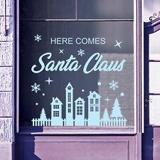Christmas Shop Window Santa Xmas Baubles Decal Display Wall Stickers Festive B63