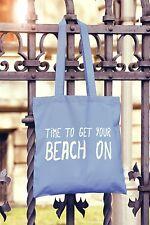 Tempo di ottenere il vostro Spiaggia su Tela Tote Bag Shopper Vacanza Estiva Hot
