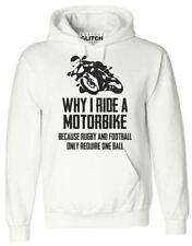 Mens Why I Ride A Motorbike Hoodie - MX Bike Racing Gift Present Dad Slogan Joke