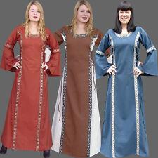 Kleid mit Bordüre viele Farben S-XXXL Mittelalterkleid Mittelalter Kleid Gewand