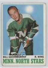 1970-71 Topps #46 Bill Goldsworthy Minnesota North Stars Hockey Card