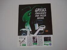advertising Pubblicità 1989 PIAGGIO GRILLO