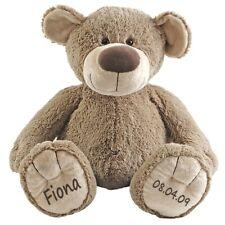 Stofftier Teddy Bär Geschenk mit Namen und Geburtsdatum personalisiert