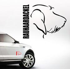 Auto Aufkleber RAUHAARDACKEL Profil Hund Hunde Wilsigns SIVIWONDER