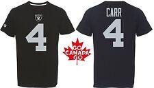 NFL Football t-shirt Oakland raiders Derek Carr #4 Black eligible receiver