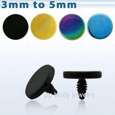 1pc. 14G~3-4-5-6mm Flat Disc Color Titanium Anodized 316L Dermal Anchor Top Part