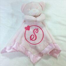 Personalised Teddy Bear Baby Comforter Snuggle Blanket Gift Newborn Intial