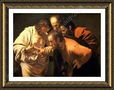 FRAMED Poster Doubting Thomas Caravaggio Framed Wall Art Framed Wall Decor