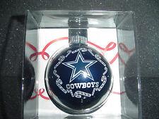 Dallas TX Cowboys Star Christmas Tree Glass NFL Ornament Round Ball football