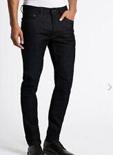 BNWT M/&S Collection Mens STAYNEW SLIMFIT Stretch BLACK Jeans W42 L33