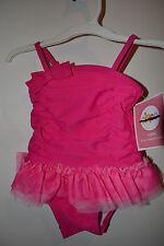 Circo Girls Infant Toddler One Piece Swimsuit w/Tutu 12M 18M 2TNWT UPF 50+Pink