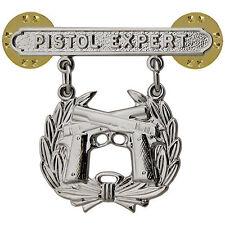 Vanguard USMC Marines PIstol Shooting Badge  Expert, Sharpshooter, Marksman