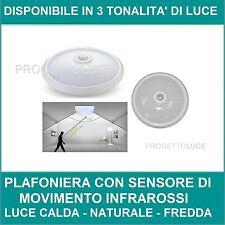 PLAFONIERA LED V-Tac 12W Pannello CIRCOLARE  Soffitto con Sensore di Movimento