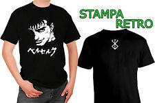 Berserk Beruseruku Gatsu ANIME T-shirt Maglia nero black con 2 Stampe