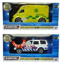 Teamsterz City Emergency Response Ambulance / Police Car Light & Sound Toys New