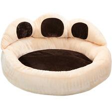Niche panier pour chien chat coussin lit design en forme de patte beige marron