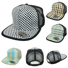 Check Baseball Cap Snapback Mesh Caps Trucker Hat Fashion Casual Flat Bill