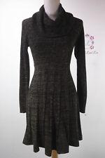 Calvin Klein New Cowl Neck Metallic Sweater Dress CD5WLPU5 Size S M L XL NWT