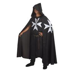 MEDIEVAL WARRIOR LARP Cosplay Costume KNIGHTS OF ST. JOHN Tunic /CAPE Cloak Robe