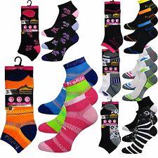 3/6/12 Pairs Ladies Cotton Rich Fashion Trainer Liner Gym Socks Run Walk 4-7