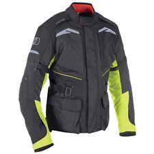 Oxford QUEBEC 1.0 Hombre Textil Impermeable Chaqueta moto - Negro/Fluorescente