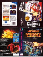 Midnight Resistance Sega Genesis NTSC & JP Replacement Box Art Case Insert Cover