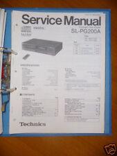 Service Manual Technics SL-PG200A CD-Player,ORIGINAL