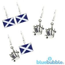Bluebubble HIGHLAND FLING Earrings Funky Scotland Kitsch Novelty Retro Music VTG