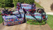 Hmong canvas big Thailand shoulder bag embroidered with pom poms TRIBAL bag