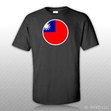 Round Taiwanese Flag T-Shirt Tee Shirt Free Sticker taiwan