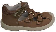 SuperFit zapatos sandalia decorado marrón cuero auténtico lejos velcro nuevo