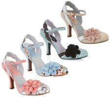 Ruby Shoo Heidi Slingback Shoe 3-8 36-41 Beige Mint Peach Sky Blue Spot Floral