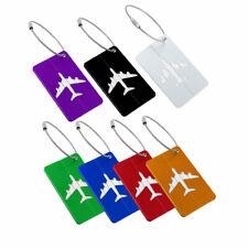 Travel Luggage Bag Tag Aluminium Metal Suitcase Baggage Name Address ID Labels