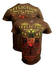 Affliction Montage Brown T-Shirt 3XL XXXL UFC MMA BJJ