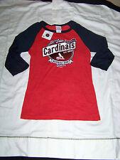 5th & Ocean Women's St Louis Cardinals 3/4 Sleeve Shirt NWT