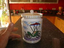 Ancien Pot a epice céramique faïence Calèche  Tacot emaillé :Made in Italy 1970