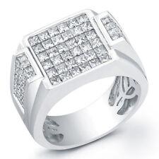 3.72 Ct. Men's Princess Cut Diamond Wedding Ring