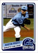 2014 Charlotte Stone Crabs Choice #17 Austin Pruitt The Woodlands Texas TX Card
