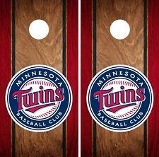 Minnesota Twins Cornhole Wrap MLB Wood Game Board Skin Set Vinyl Decal Art CO419