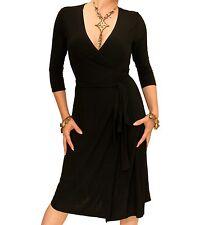 NUEVO elegante elegante cuello v Envoltura Vestido - 3/4 LONGITUD DE LA MANGA