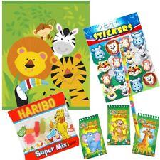 animaux de la jungle a thème pré-rempli Sac soirée - Sucreries Stickers Faveurs