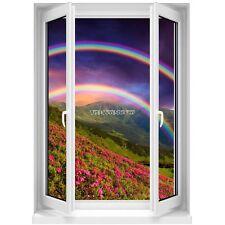 Sticker mural Fenêtre trompe l'oeil  Arc en Ciel 5372 5372